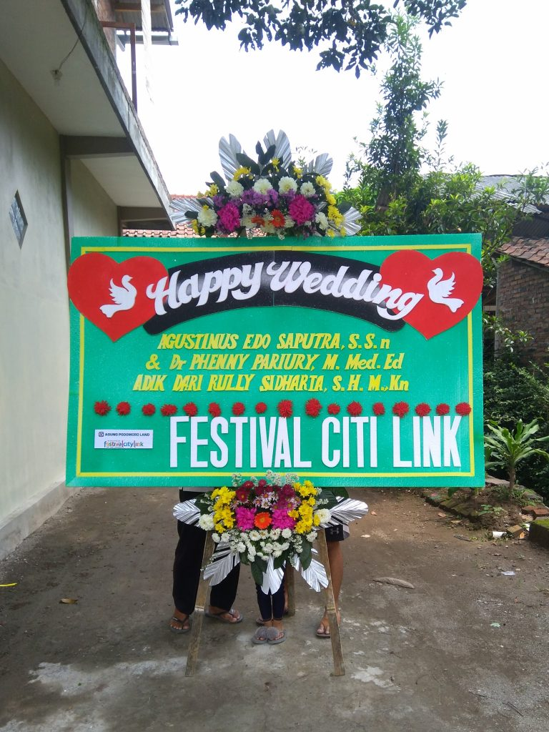 Karangan Bunga Wedding Temanggung parakan zaenflorist Code Zn 023