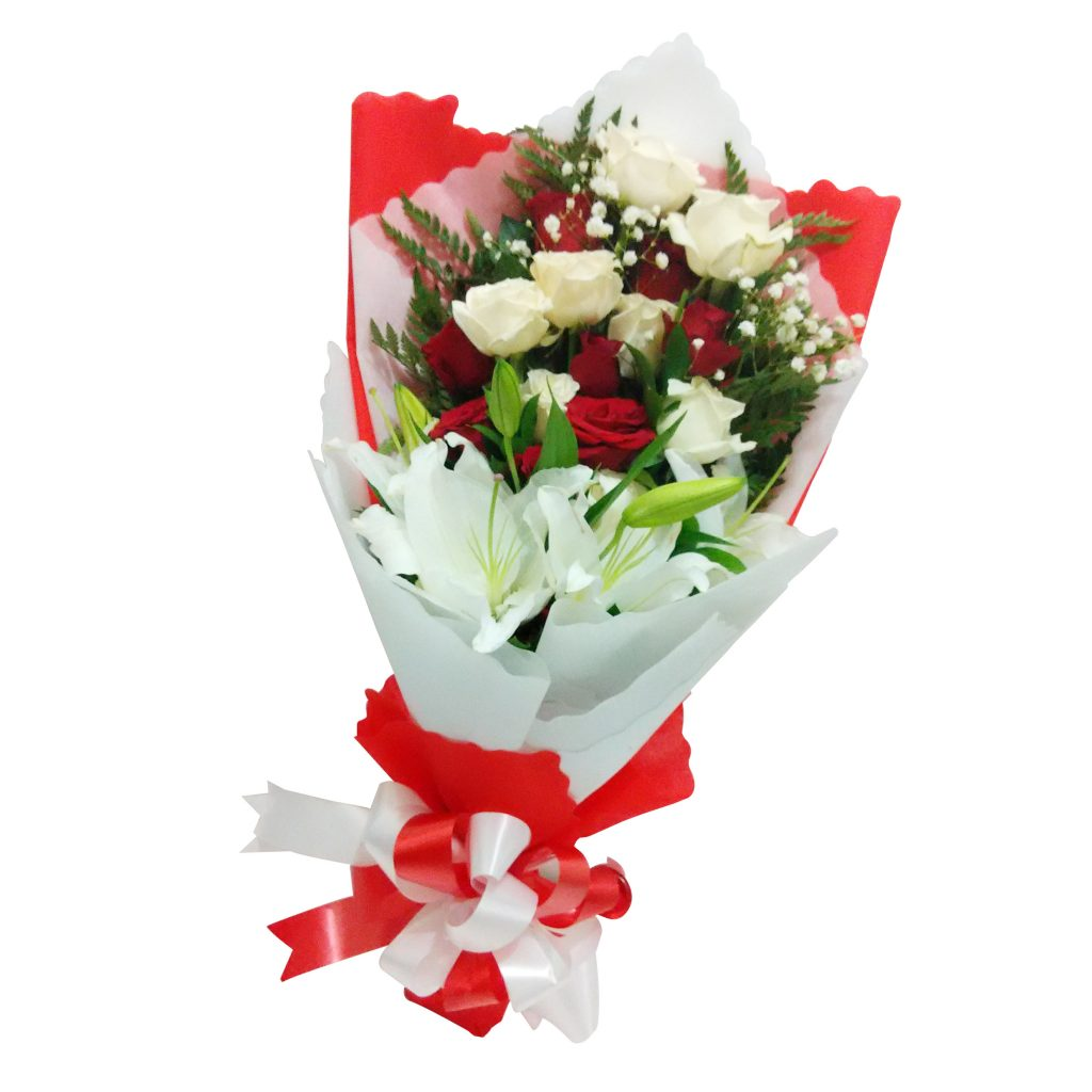 Karangan bunga bouquet simple zaenflorist Code Zn 016