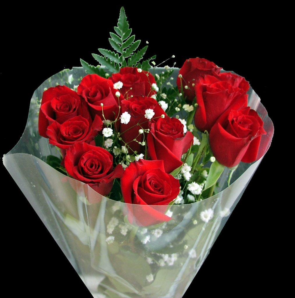hand bouquet mawar merah transparan zaenfloris code zn 01