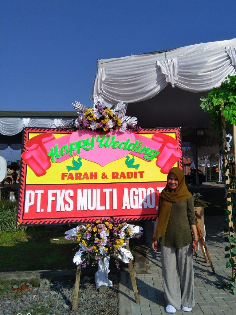 karangan bunga Wedding Temanggung parakan zaenflorist Code Zn 021