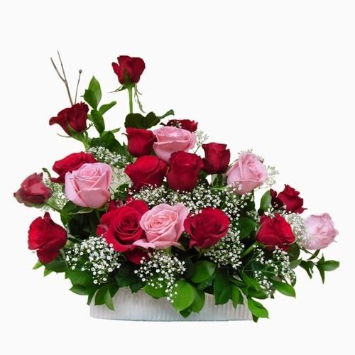 karangan bunga meja cantik Zaenflorist Code Zn 18