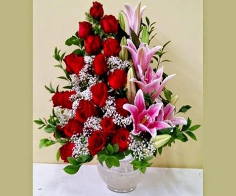 karangan bunga meja cantik Zaenflorist Code Zn 19