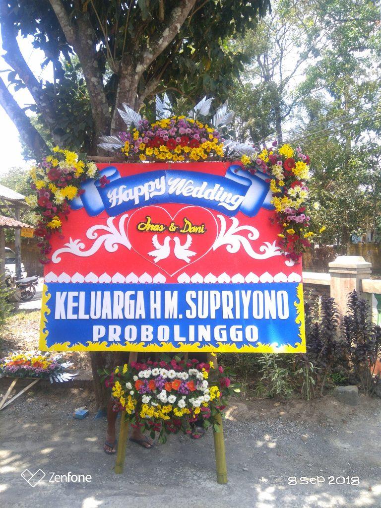 karangan bunga wedding borobudur zaenflorist code zn39