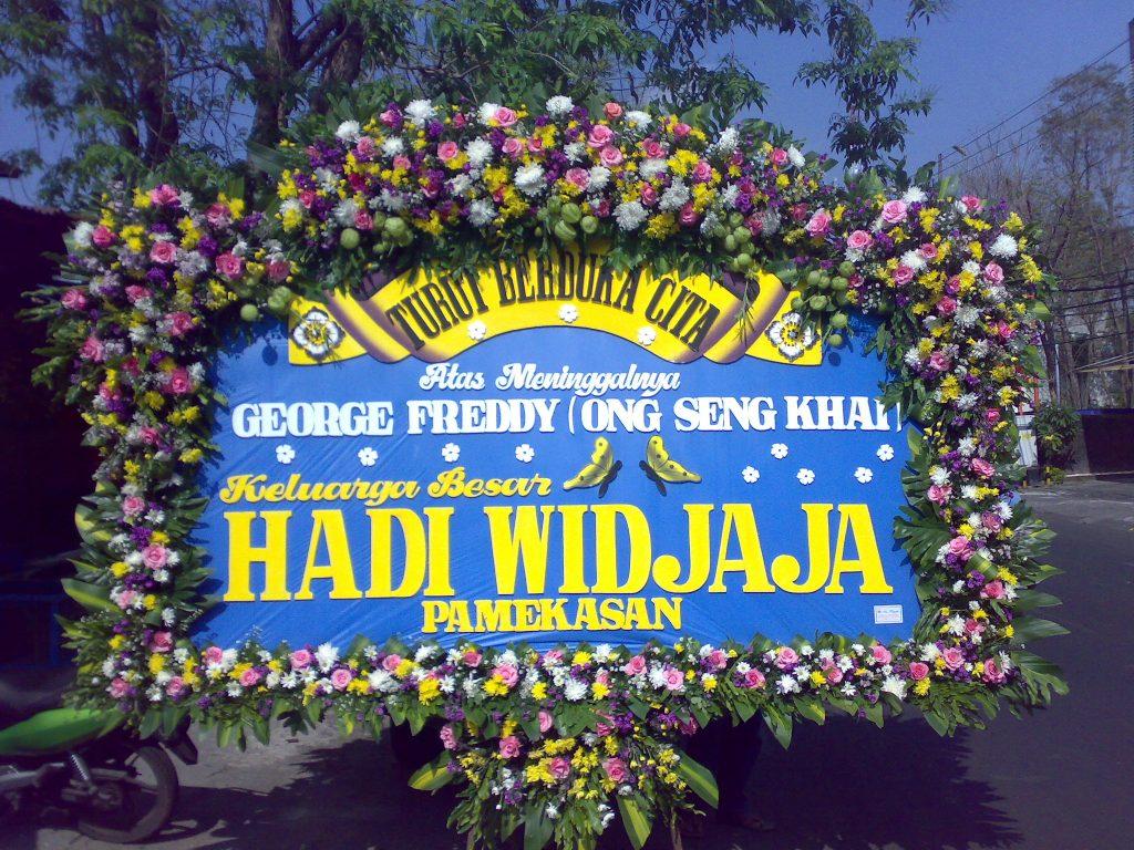 papan karangan bunga duka cita zaenflorist code zn 07