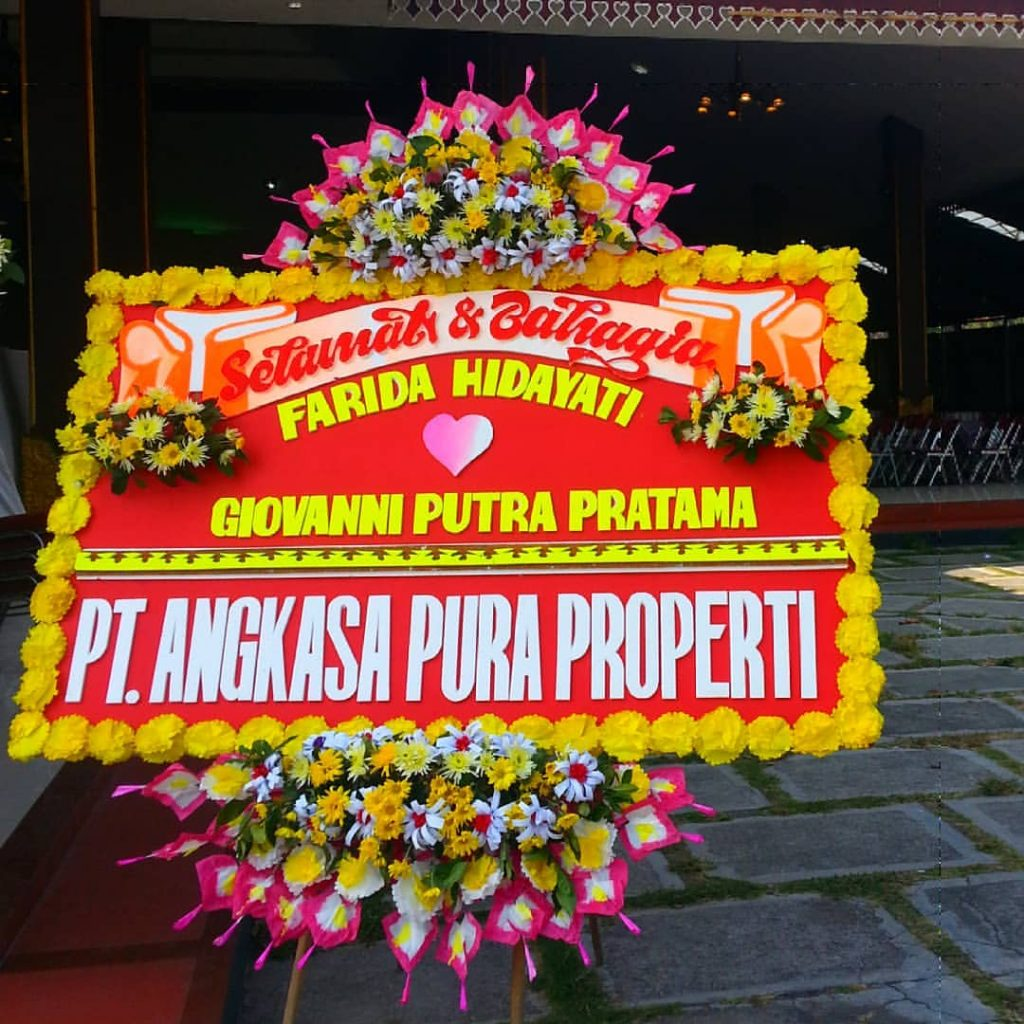 papan karangan bunga pernikahan zaenflorist code zn 01