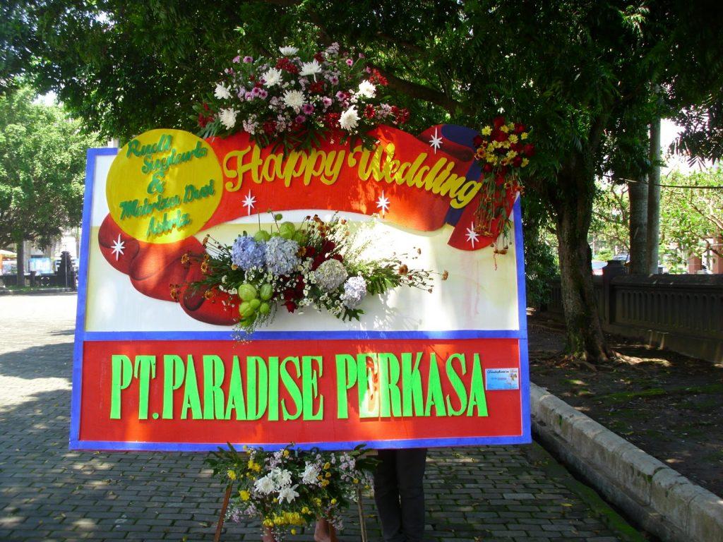 papan karangan bunga pernikahan zaenflorist code zn 03