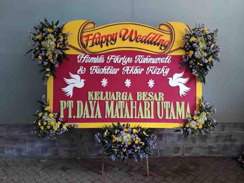 papan karangan bunga pernikahan zaenflorist code zn 04
