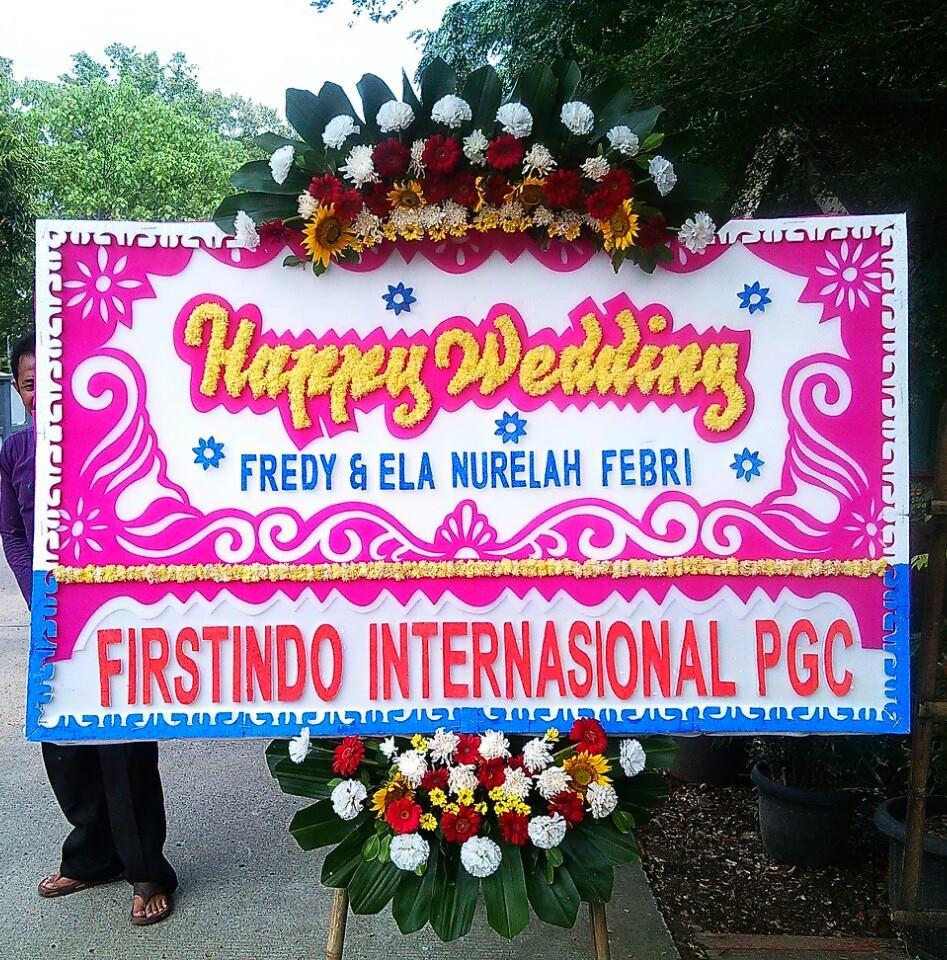 papan karangan bunga pernikahan zaenflorist code zn 06