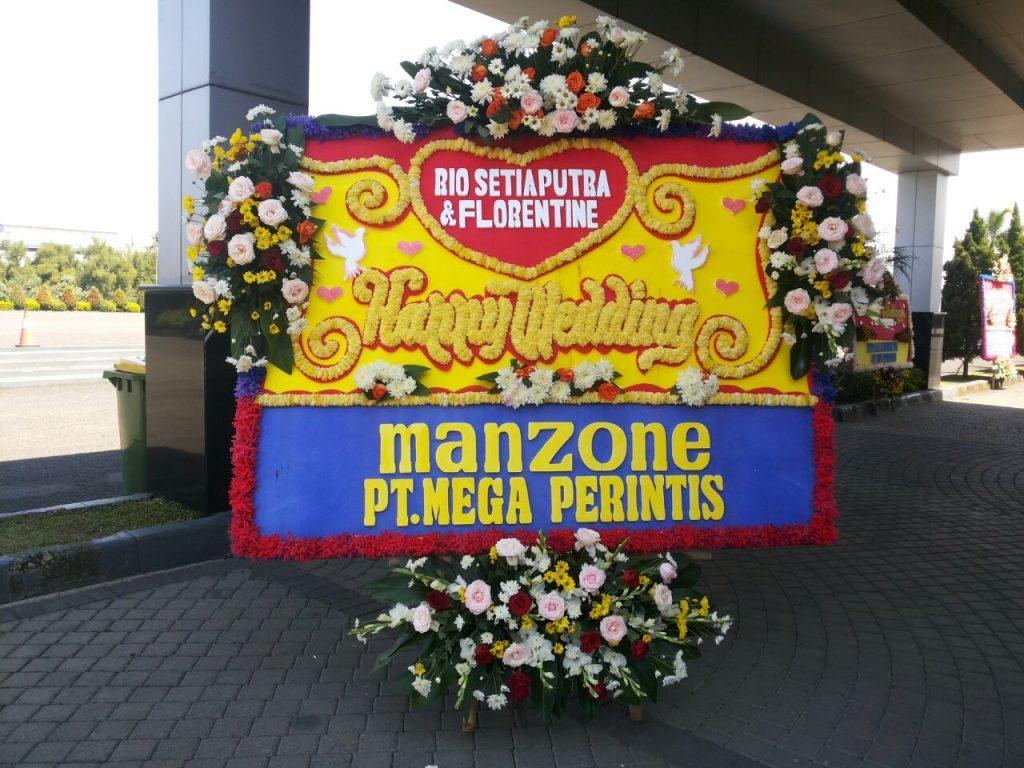 papan karangan bunga ucapan pernikahan zaenflorist code zn 09
