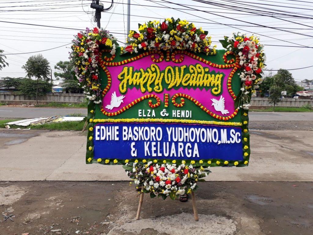 papan karangan bunga ucapan selamat pernikahan zaenflorist code zn 10