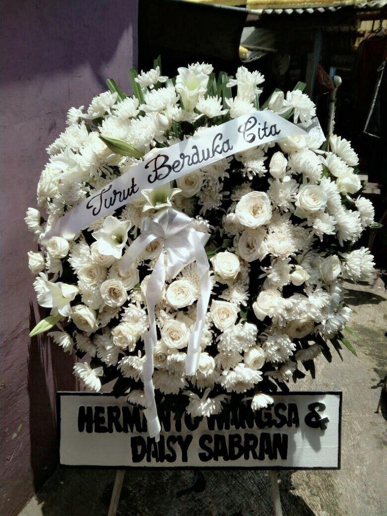 standing flower duka cita tema putih zaenflorist code zn 04