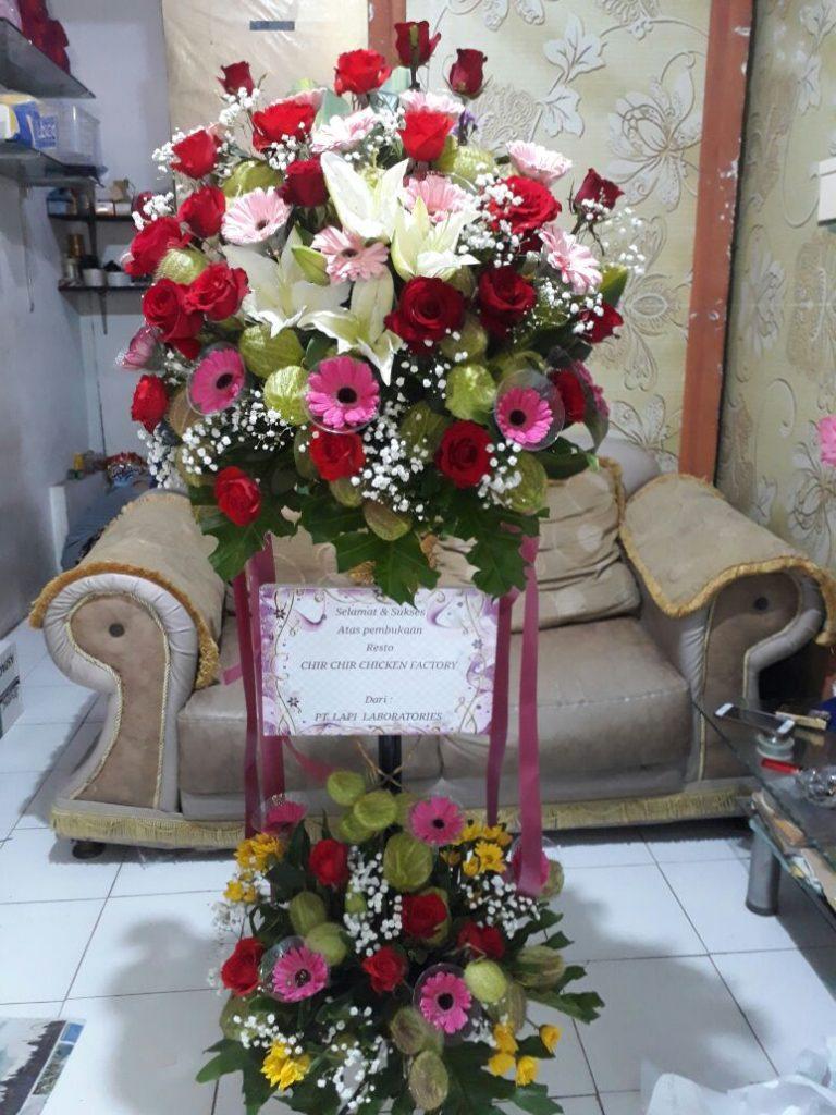 standing flower ucapan selamat elegan zaenfloris code zn 04