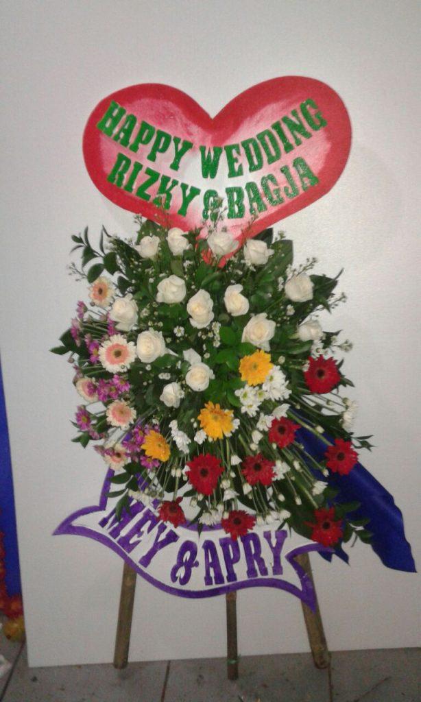 standing flower wedding simple elegan zaen florist code zn 08