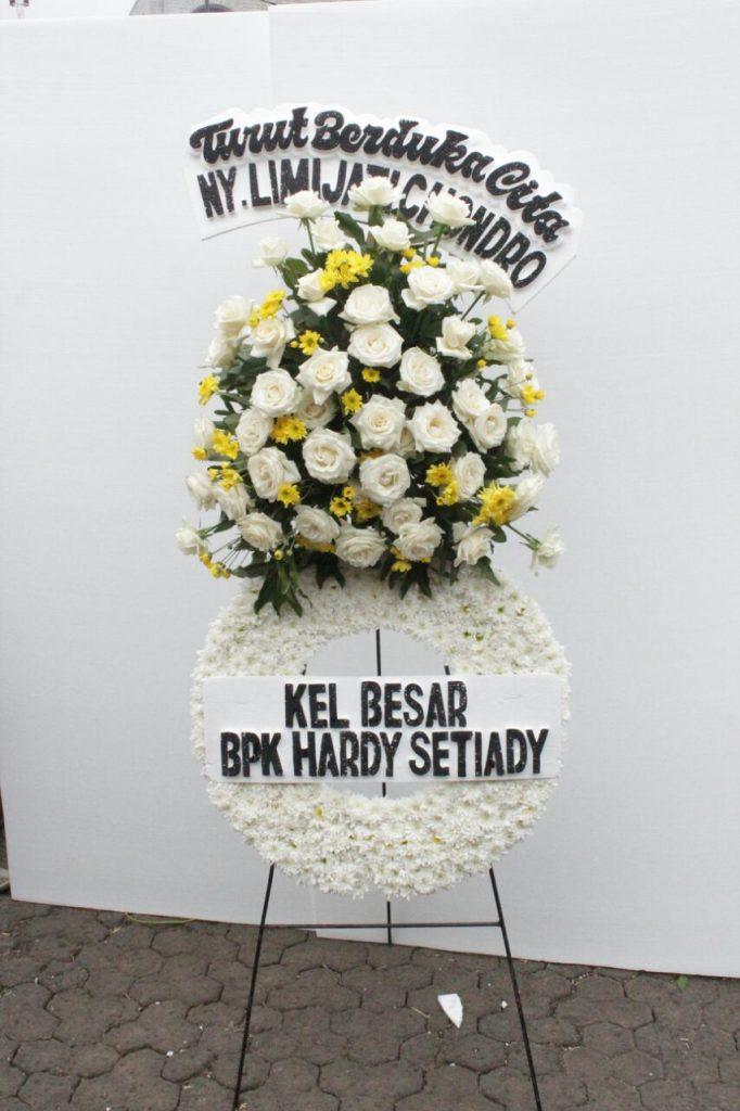 standing flowers full bunga putih zaenflorits Code Zn 02
