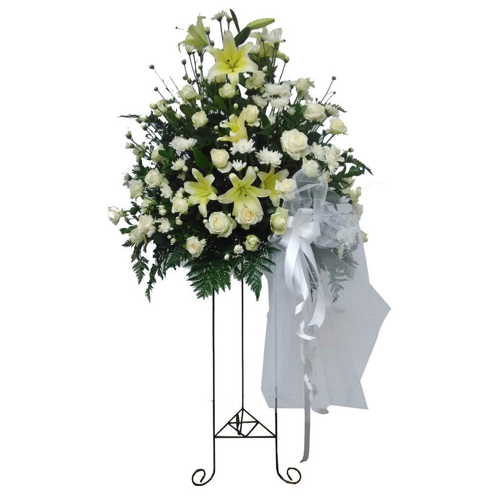 standing flowers mawar campur zaenflorist Code Zn 14