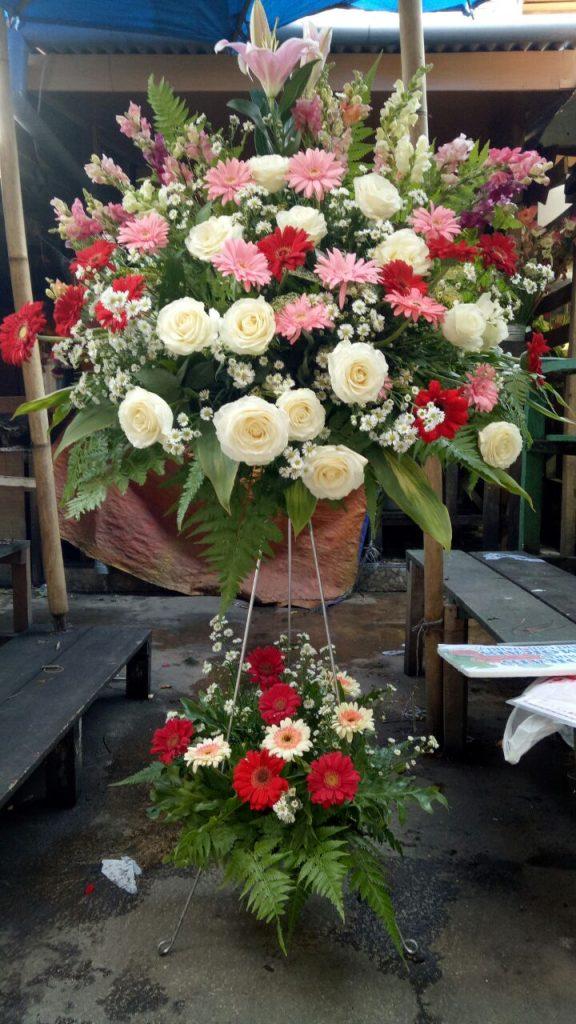 standing flowers mawar campur zaenflorist Code Zn 16