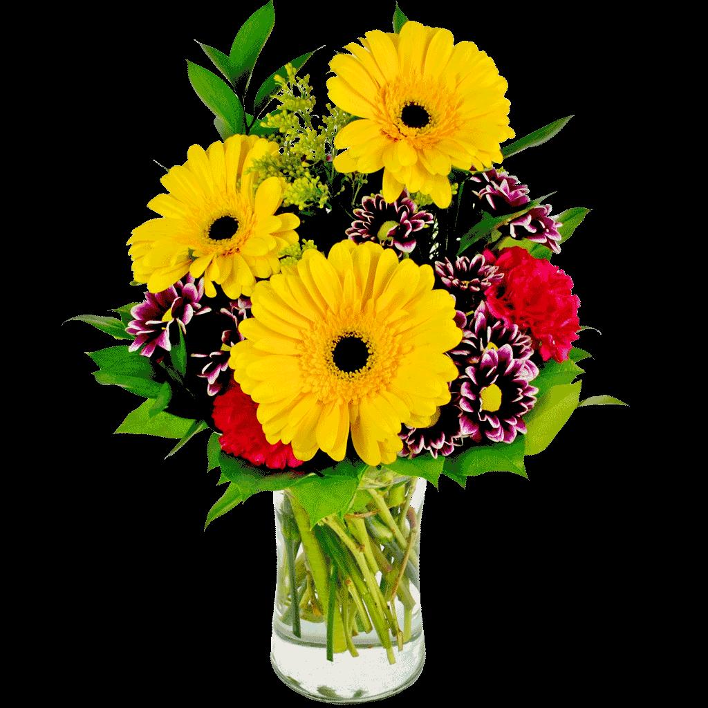 karangan bunga vas garbera zaenflorist code Zn 13