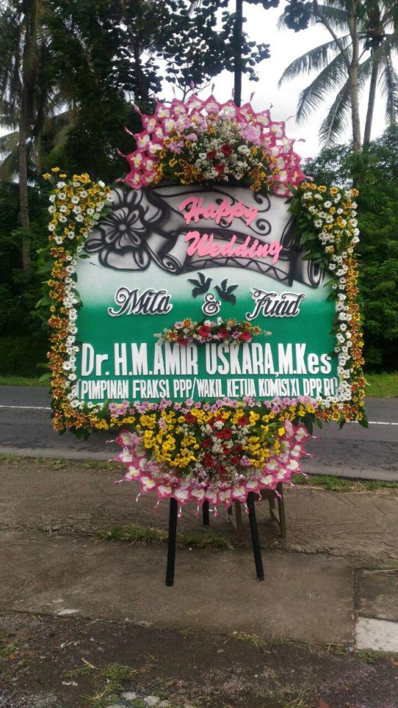 papan-karangan-bunga-happy-wedding-zaenflorist-code-zn-103